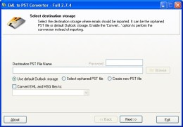 Outlook Express στο Outlook E-mail Converter